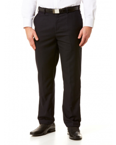 Lowes Tailored Fit Navy Trousers