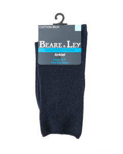 Delight Navy Ankle Socks