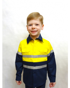 Lowes Unisex Kids Yellow Work Shirt