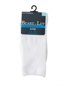 Delight White Ankle Socks