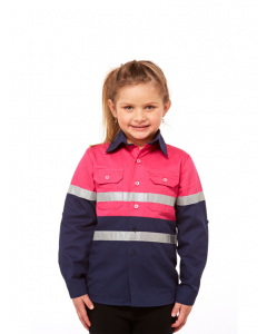 Lowes Unisex Kids Pink Work Shirt