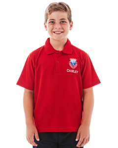 Short Sleeve Red Polo Top - Cawley