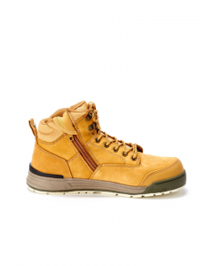 Hard Yakka 3056 Lace Zip Boot Wheat