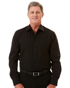 Lowes Black Long Sleeved Microfibre Shirt