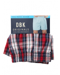 DBK Navy & Red Check Boxer