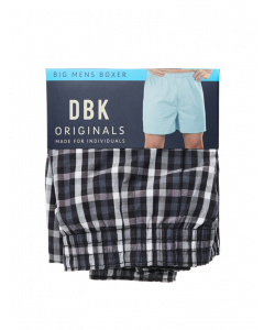 DBK Charcoal & Black Check Boxer