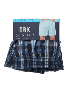 DBK Navy & Sky Blue Check Boxer