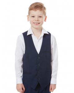 Huntley & Sons Boys Indigo Vest