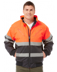 Lowes Orange Hi-Vis Oxford Winter Jacket