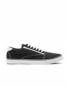 Traders Black Canvas Casual Shoe