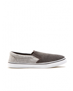 Iconic Soul Grey Jersey Canvas Slip On