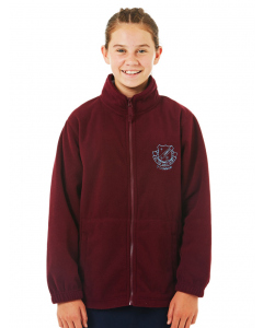 Maroon Full Zip Polar Fleece Jumper