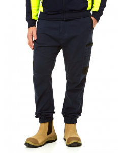 Traders Fixed Waist Cuff Work Pants Navy