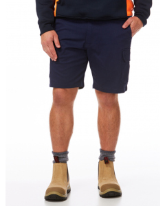 King Gee Navy Stretch Cargo Fashion Shorts