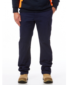 King Gee Navy Stretch Cargo Fashion Pants