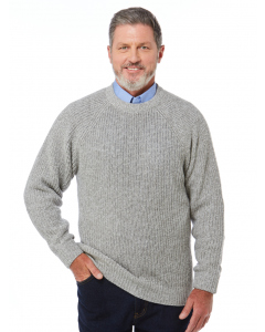 Elliotts Shaker Knit Pullover Silver Marle | Elliotts | Knitwear | Lowes