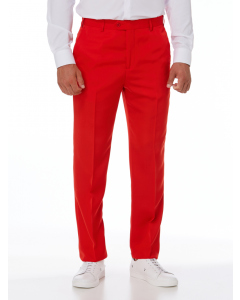 Ambassador Red Flat Front Trousers