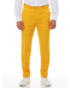 Ambassador Yellow Flat Front Trousers