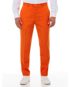 Ambassador Orange Flat Front Trousers
