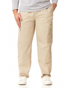 Farah Regular Fit Elastic Waist Cargo Pants Stone