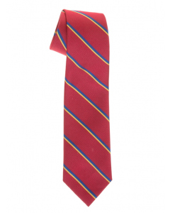 Maroon Tie With Stripes