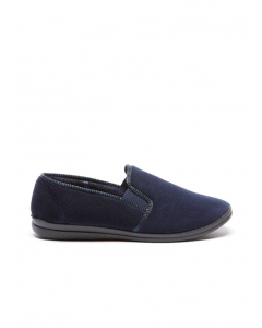Grosby Percy Navy Slippers | Grosby | Slippers | Lowes
