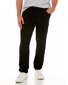 Traders Slim Fit Knit Denim Jeans Jett Black