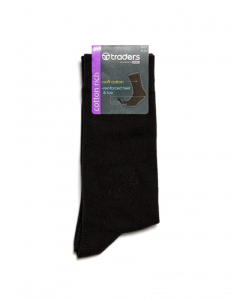 Traders Plain Business Sock Black