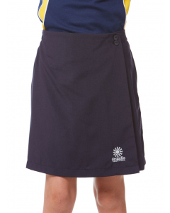 Girls Navy Skort With Embroidery