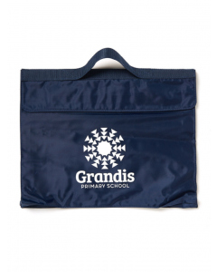 Navy Library Bag With Crest