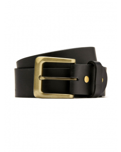 Traders Black Genuine Leather Belt