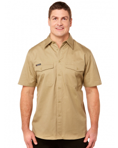 King Gee Work Cool 2 Short Sleeve Shirt Khaki | King Gee | Shirts | Lowes