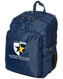 Navy Back Pack With Embroidery