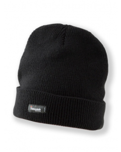 Thinsulate Lined Black Beanie