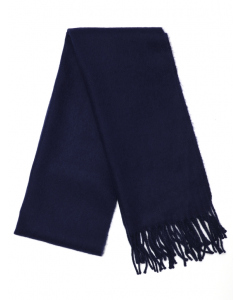 Junior Navy Cashmere Feel Scarf