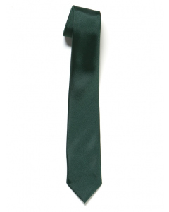 Plain Bottle Green Tie