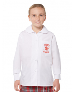 Girls LS White Blouse With Embroidery
