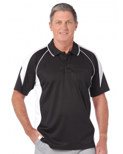 Cougars Quick Dry Black & White Spliced Polo | Cougars | Tops | Lowes