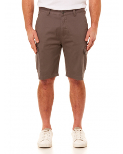 Traders Taupe Stretch Twill Cargo Shorts