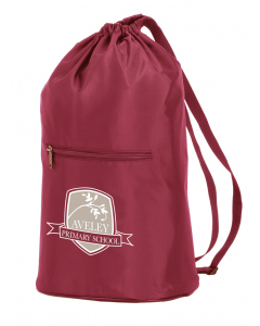 Maroon Duffle Bag With Crest