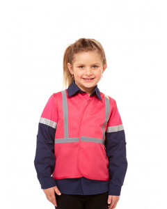 Lowes Kids Pink Hi Vis Vest with Tape