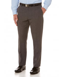 Perizzi Slim Fit Flat Front Dress Trouser Silver