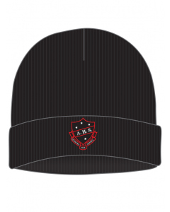 Black Beanie With Embroidery