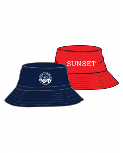 Navy/Red Hat - Sunset
