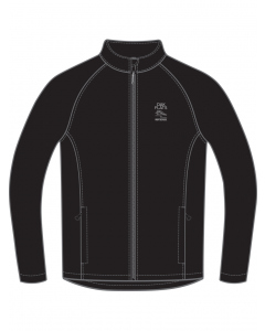 Black Unisex Shell Jacket With Embroidery