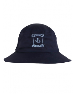 Navy Bucket Hat With Embroidery