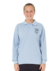 Sky L/S Sports Polo with Embroidery