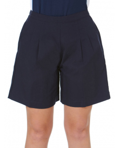 Girls Navy Pleated Short