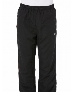 Black Microfibre Track Pants With Piping