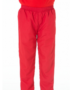 Red Microfibre Trackpants